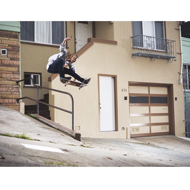 @_levibrown Kickflip >>> SF, CA >>> photo running in the latest @Thrashermag.