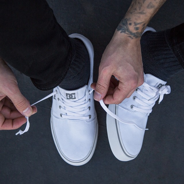 The Trase in White. The Original. Since Now. Where will you go in it? #DCShoes #DCTrase #TheOriginalSinceNow