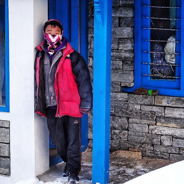 One of our Sherpa friends rocking the Arcturus Tshield high in the Himalayas. #avalon7 #nepal #liveactivated www.avalon7.co