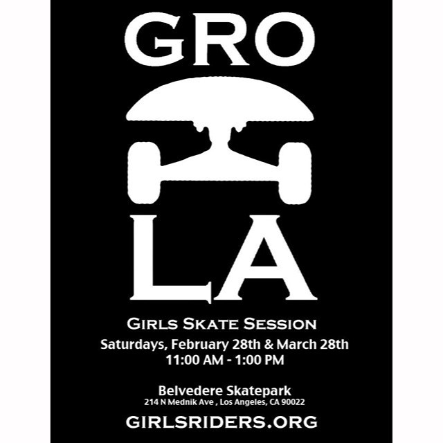 Come and skate this Saturday 11-1 #ridetrue #groLA