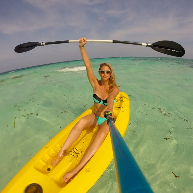 Thanks to our social community, like @tabithalipkin, for helping us win 2 @ShortyAwards! Stoked! Check it at gopro.com/news #GoPro #ShortyAwards #GoProGirl #Kayak #Ocean