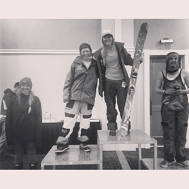 Regram from total #badass and athlete @skisi1228 taking 1st in the @skicrestedbutte 2 star #freerideworldtour qualifier event! So proud of this gal, keep it up! #sisterhoodofshred #podium #freeskiing