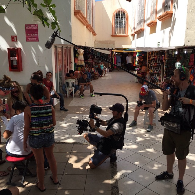 Quick #BTS snap of the #DJI #Ronin on set for a #Budweiser commercial in Cancun, #Mexico  Credit: Austin Ahlborg