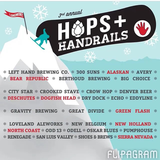 RG @lefthandbrewing | Join Left Hand Brewing and SOS as we celebrate #COCraftBeerWeek at #hopshandrails this Saturday!  Over 50 craft #breweries and a rail jam with a 40 foot snowboard ramp and some of colorado's best riders. Proceeds benefit SOS!
