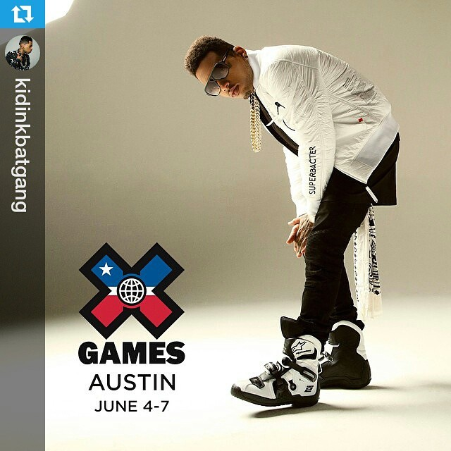 #Repost @kidinkbatgang ・・・ I'm excited to announce I will be performing live at the #XGames in Austin this June! Tix on sale now at XGames.com/Tickets