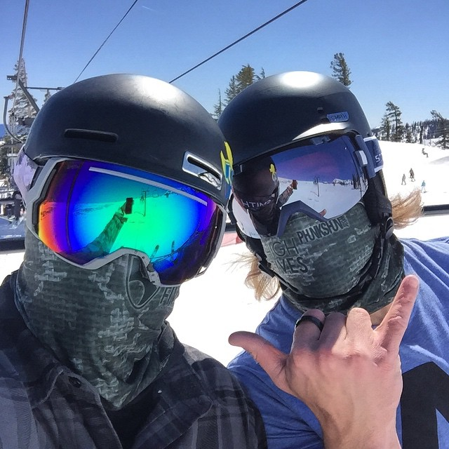 Chairlift rides with friends is always better, @davidvobora out here skiing with the original Jacob Schick #sharpAsARazor