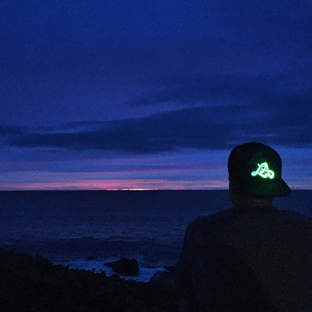 When the sun sets, the City Lights LA E5 #snapback stands alone. Available for purchase now at Lumativ.com (Photo credit: @dylanbullock via @ajlynam)
