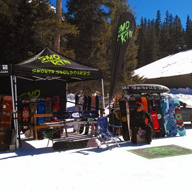 Our rep @d_gonzog demoing #Taos - thanks for spreadin the word Devin. #forridersbyriders #handmadelaketahoe