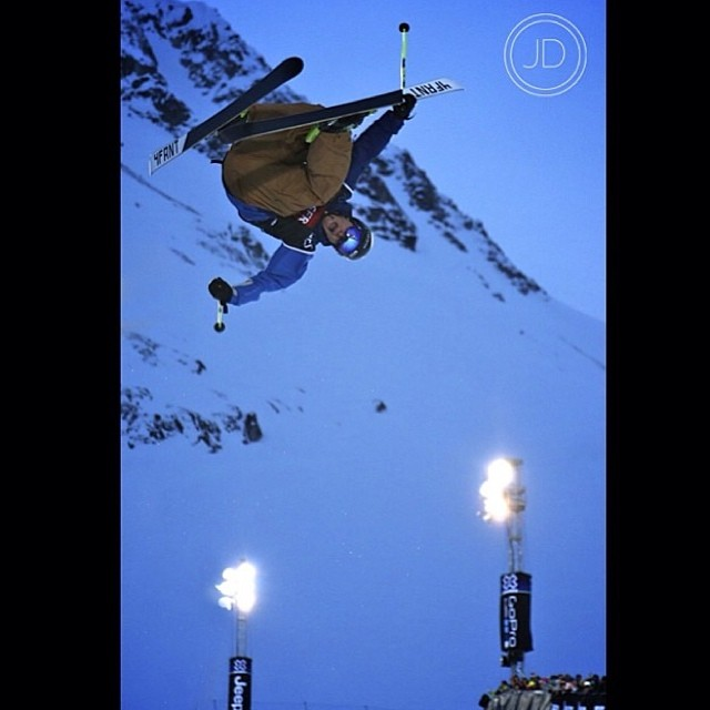 Flashback Friday? @mrdavidwise competing at the historic final X Games Tignes. Photo: the lovely @misssjannah check her out!
