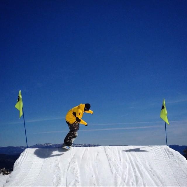#takeoff #backside540 @squawalpine #squawvalley  #snowboard @patrickpitter #spt #park #airtime