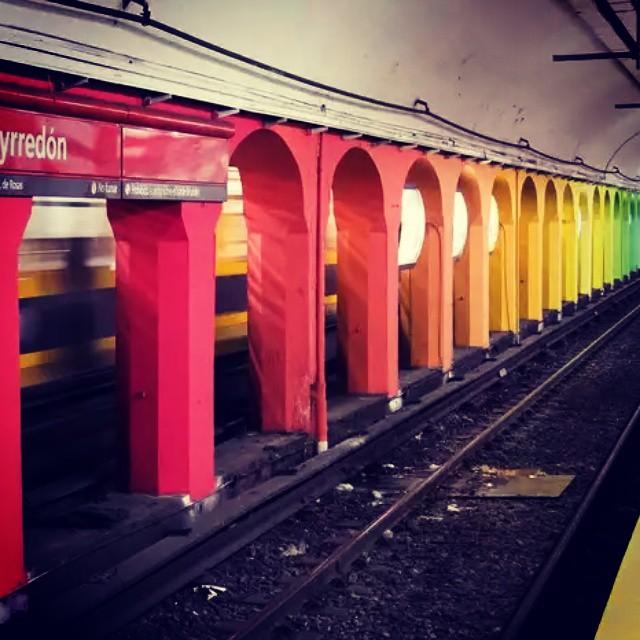 #subte #colours #streetart #buenosaires #metro