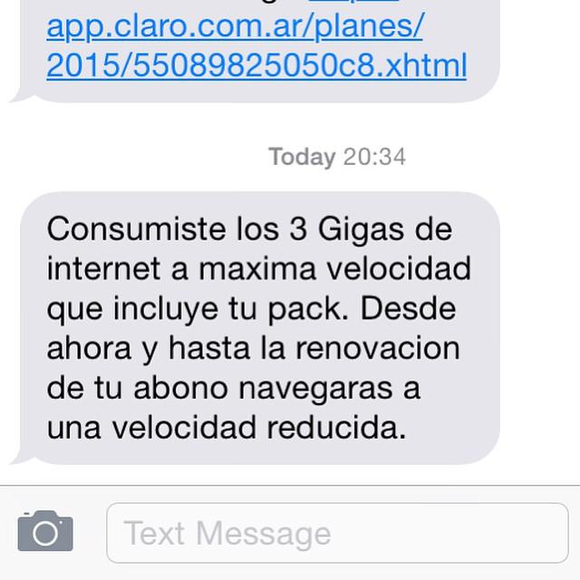 LCDTM @claroargentina #claro #serviciodemierda #fucku #apple #iphone #badnews