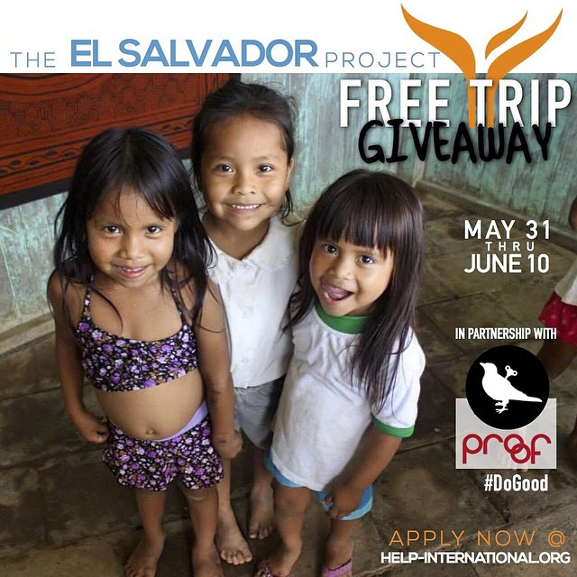 FREE TRIP GIVEAWAY to the #ElSalvadorProject! Enter in to win by Sunday, find out how at @helpintl!