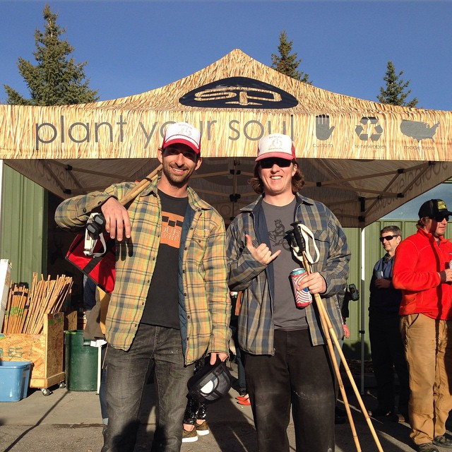 Spring is in the air, as is the smell of Park City's own @redbicyclebread Thanks for the pizza and for making custom  #bambooskipoles with us. #plantyoursoul #qualityshafts