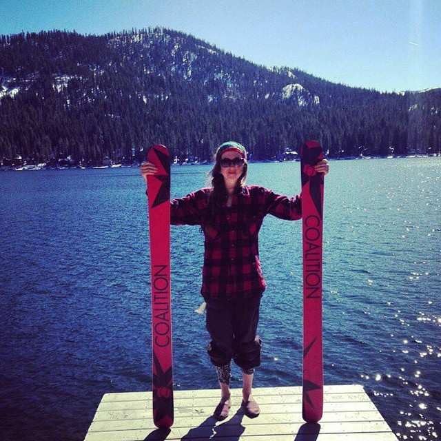 This babe's got brains! @jennifer_violet is a #CoalitionSnow ambassador, #UNR student, ripping #skier, and so much more. Check out her profile on our website (written by @nosnowsnakes) and wish her a HAPPY BIRTHDAY! #skiing #ski #Donner #DonnerLake...