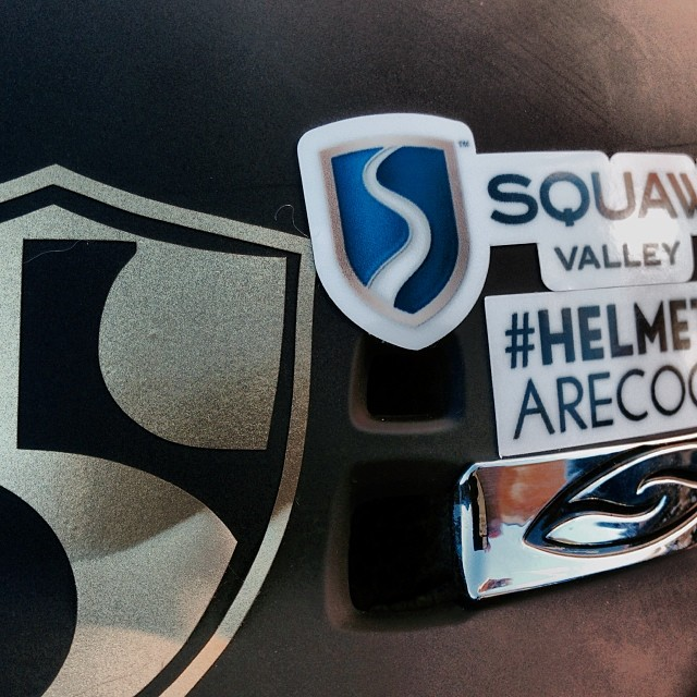 Such a great day of skiing @squawvalley | Everyone at #highfivesfoundation wants everyone to know that #helmetsarecool