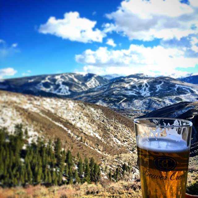 Having an @epicbrewing saison in my Beaver Creek glass looking at Beaver Creek on a 70 degree Friday!  Just can't get enough @beavercreek I guess! #coloradopics #microbrewfridays