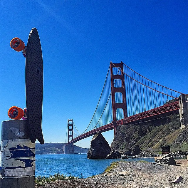Blue bird day in SF. We will be hanging at @patagoniasf from 1-4pm today...cruise by 770 North Point St and say hi! #netstodecks  photo: @nautiii