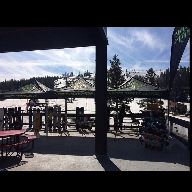 Set up for today's event #LegendsOfSnowboarding2015 @borealmtn  This is one of my favorite events each year, every year different snow legends roll thru and its great seeing what everyone is up to nowadays. #thankyousnowboarding #forridersbyriders...