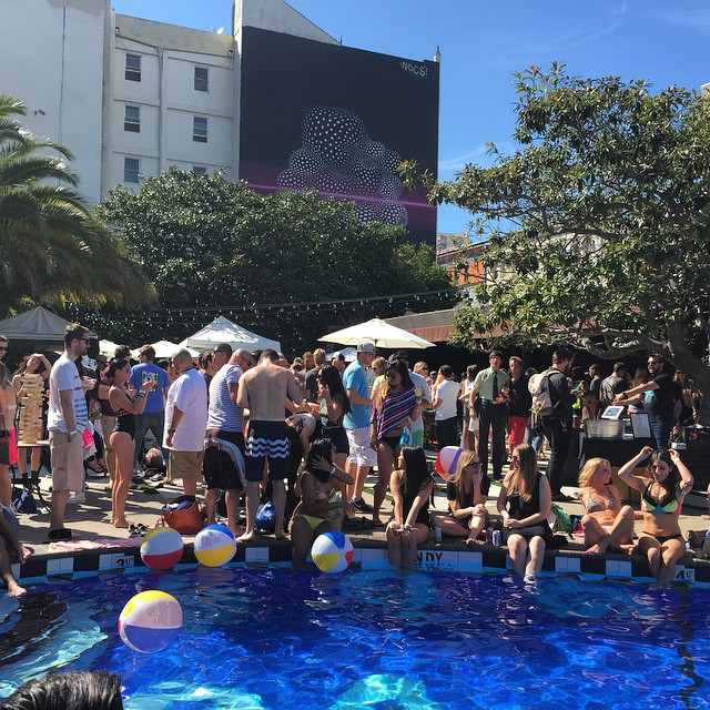 And on Saturdays we pool party #sanfrancisco #poolparty #kindafancy #sanfranpsycho #Phoenixhotel