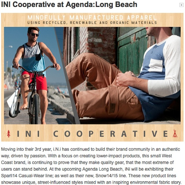 Little blurb on Agenda.com about our Sprall14 / Winter15 collection premiering at #AgendaShow this week in Long Beach. If your around, come check us out at Booth C15 . #MindfullyManufactured #SoCal @agendashow