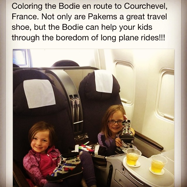 A happy customer send this via email. #funforkids #thebodie #coloryourownshoe #greatfortravel #comfy #pakems #packable