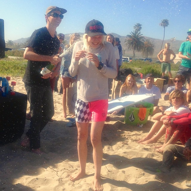 Give it up to Bethany Zelasko for taking first at the Volcom contest in Venture. @b_rosez @bbrsurf #bethanyzelasko #bbr #buccaneerboardriders #teamrider #ventura #firstplace