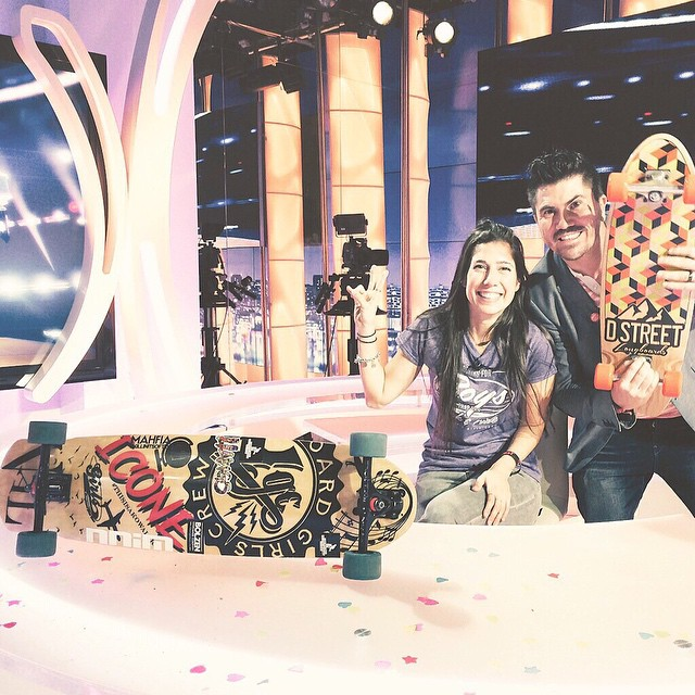 @valeriakechichian was invited to the TV show L'EXPRESSO in @beinsports_fr in Paris to talk about longboarding, LGC & the worldwide movement. Go to longboardgirlscrew.com and check out the full feature.  Ladies, we're doing this! Spreading the world...