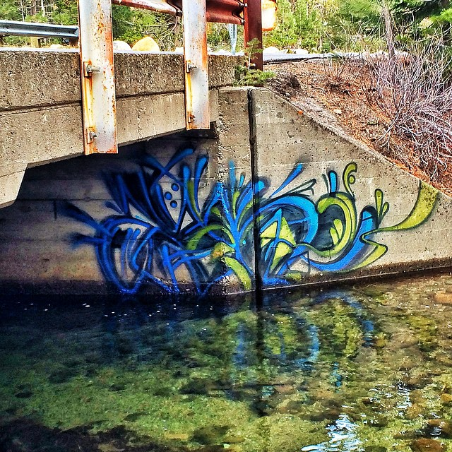 Usually I'm not to pumped on #graffiti but I really thought this artist did a beautiful job! I saw this on a early morning run. Nothing like being up bright and early with the #birds. #Truckeeriver #southlaketahoe #runforfun #springshred @epicbar...