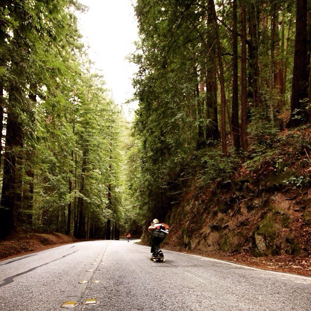 Team rider Adrian Da Kine--@adrian_da_kine ripping through the redwoods!  #adriandakine #bonzing #downhill #california