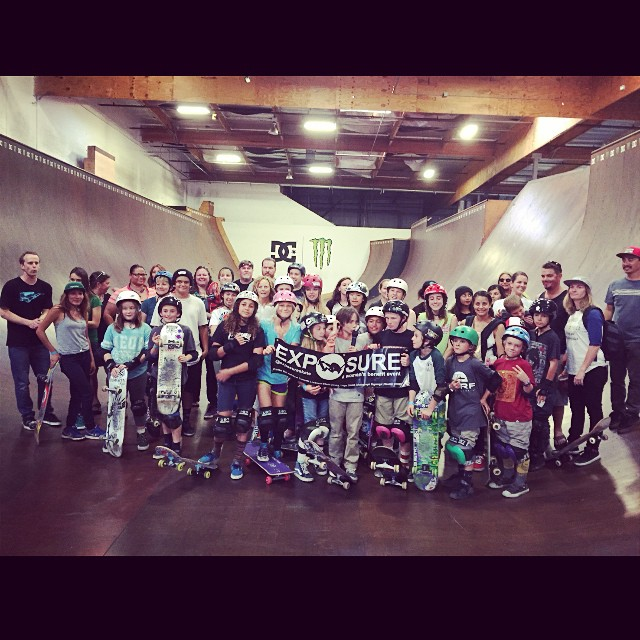 #fun day #skateboarding at the Monster/DC facility with all of the #exposure supporters! Thank you to all of those who came out!!! #love #family #empowerment