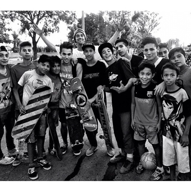 Repost of @mattmillerskate hanging with some cool kids in Argentina. #spreadthelove #skateglobal #stokedmoment