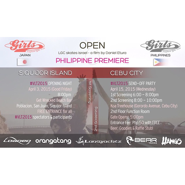 OPEN premiere in PHILIPPINES April 3 & 15!  LGC Japan & Philippines ambassadors @pitufimin @dreux10 & @trina.risos joined forces to screen OPEN -by @danieletura- during the best event in The Philippines: the VLT Visayan Longboard Trilogy! Go to...