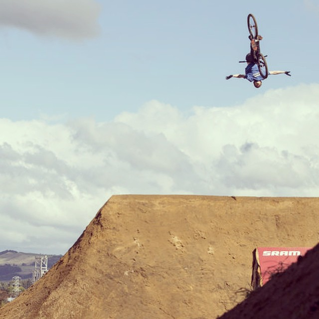 Crank it up. #slopestyle @crankworx #rotorua