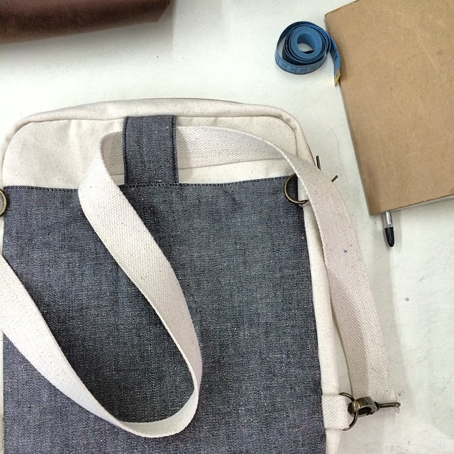 SS15 production going on in the workshop with lots of organic cotton + hemp denim on the table. One of our new favorite combos. #SS15 #hemp #organic #eco #natural #sustainable #ecostyle #consumeconsciously #estwst