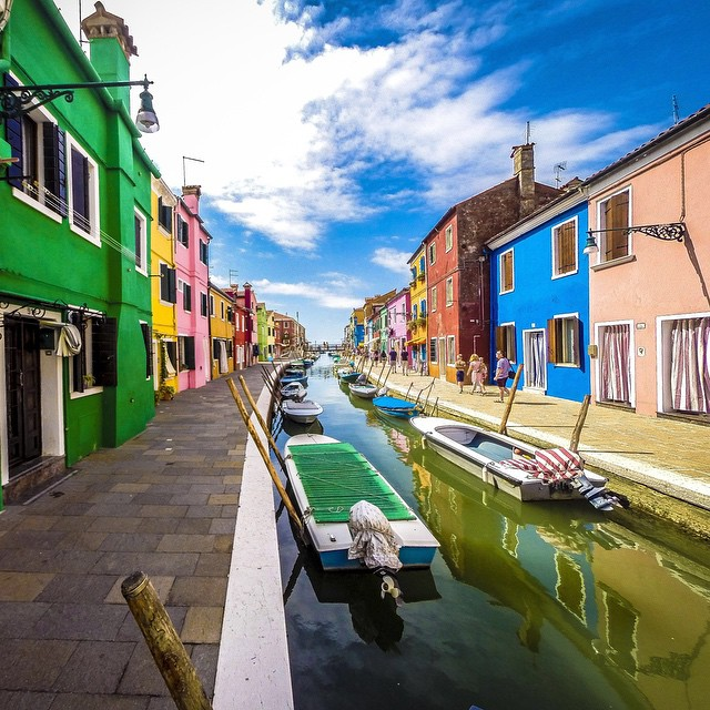 Photo of the Day! Colorful Burano, Italy. Photo by Brian Kaszuba #GoPro #Travel