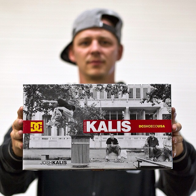 Who remembers this box? @dgkalis and the Kalis 1. Photo: @blabacphoto #JoshKalis #DCShoes