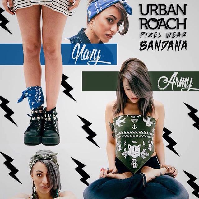 Navy & Army #bandanas #design #cool #pixel #pixelart #stamp #navy #army #fashion #girl