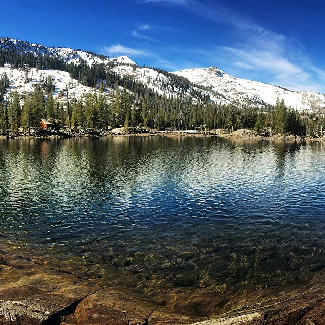 Take the #polarplunge ! It was amazing to see only two humans hiking up at Echo Lake this morning. The water was chilly but extremely refreshing. Today's high in #laketahoe is supposed to be 70 degrees. Flipping cray cray! Get out and enjoy the day:)...