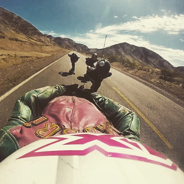 Repost from @valeriasedano. The girls charging down Killmana. Yeah!  #longboardgirlscrew #girlswhoshred #womensupportingwomen #peru #valeriasedano #josefaporter