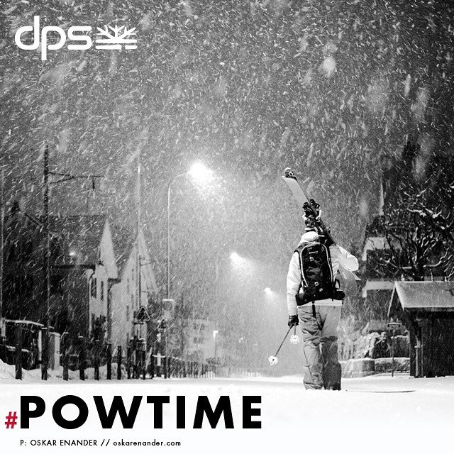 #Powtime ends April 1, but April storms keep coming. Photo: oskar_enander.