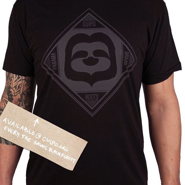 #SaveRainforest in our classic sloth icon tee. Every tee saves trees! #slothnation #cuipo