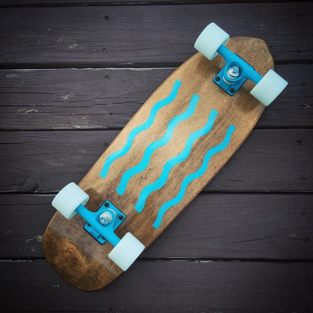 The Tide is live on salemtownboardco.com #handmadeskateboard #cruiserboard