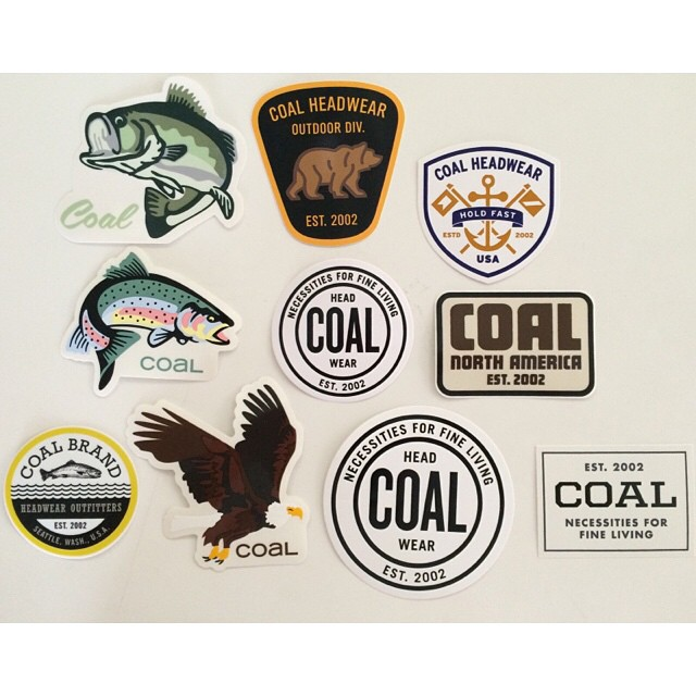 Oh you know, just some various Coal logos in the form of #stickers. Which ones are you guys down with?