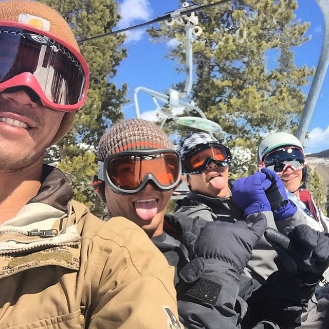 Epic times w these guys in CO #vail #theycansnowboardtoo