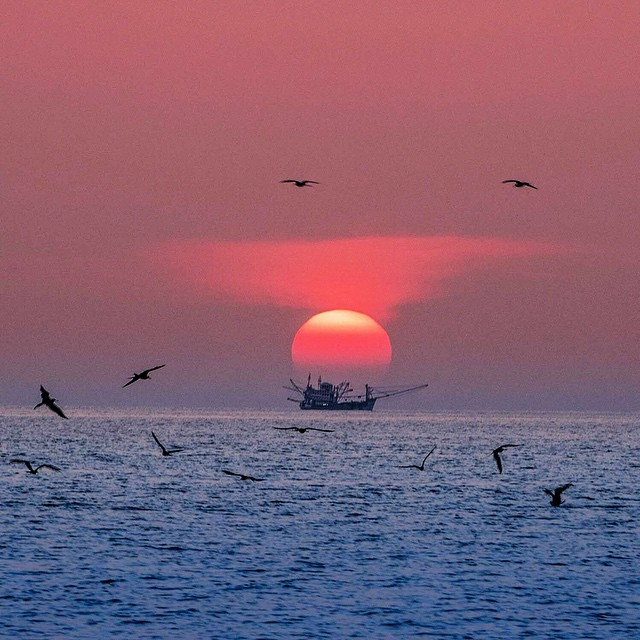 The sun sets over the Andaman Sea off the coast of Myanmar.  A special place indeed and one that needs our help restoring balance.  Photo: @andy_mann @3stringsproductions