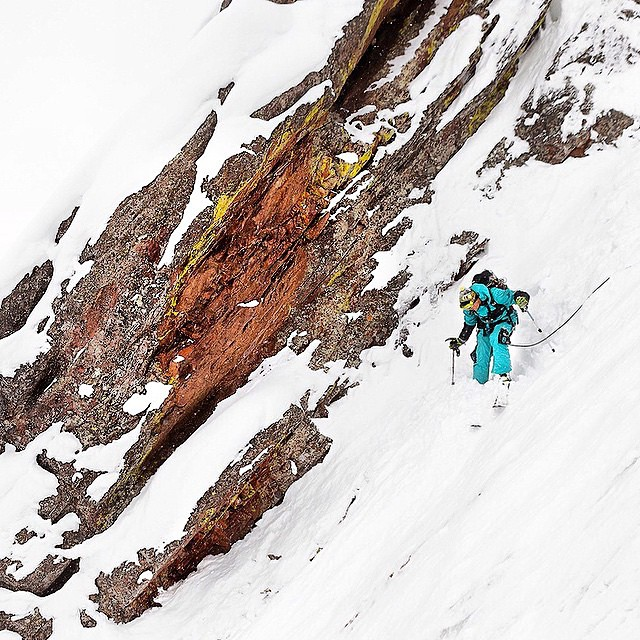 We told you, and here it is. Our dude, @aporzak1 making the first ever ski descent of the 1st Flatiron in Boulder. He had been scoping this line for years, and this day provided the best possible scenario for him to do so...and he made it happen....