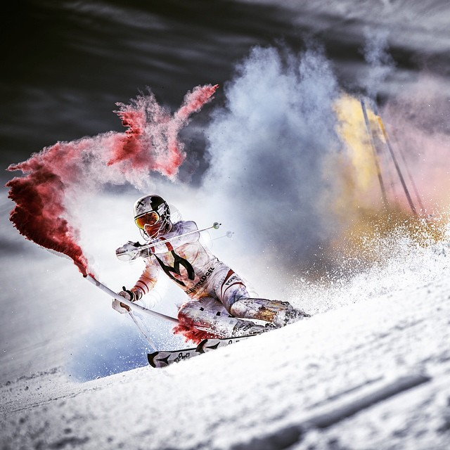 Take the red route. @marcel_hirscher #Colours #alpine #skiing