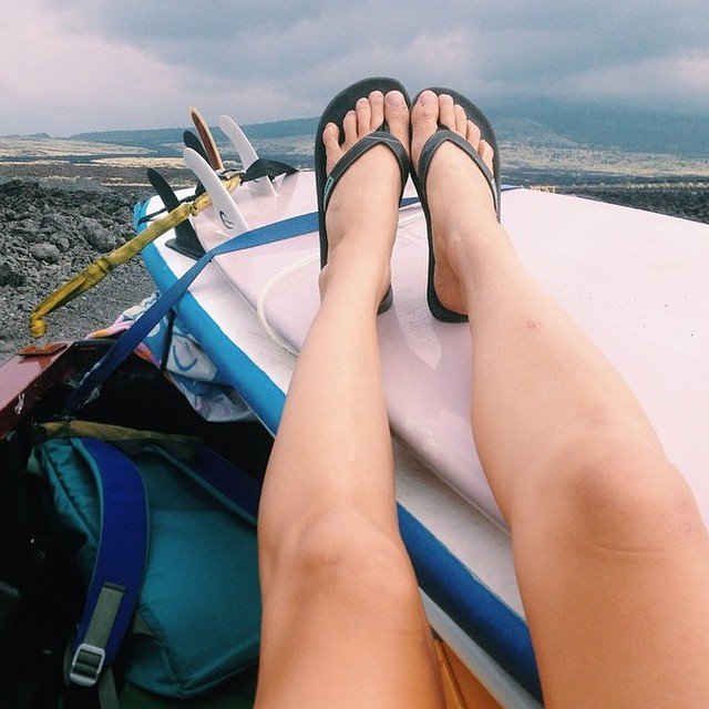 """""""Dusty dirt roads in the back of a truck on the way to my new favorite wave"""" - @annaehrgott and her Seafoam innertubed sandals #regram #goodhumancrew #innertubed #sandals #soleswithsoul"""