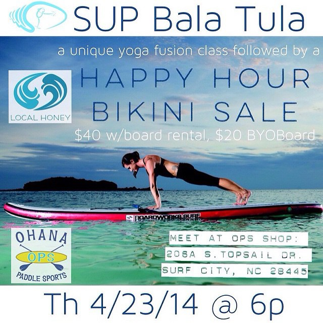 If you are heading out to the Carolina Cup check out this awesome event on 4/23 led by @waveofwellness and hosted by @ohanapaddlesports!  Come out for a special SUP Yoga class and Local Honey Trunk Show! 4/23 @ 6PM. If you have questions please email...
